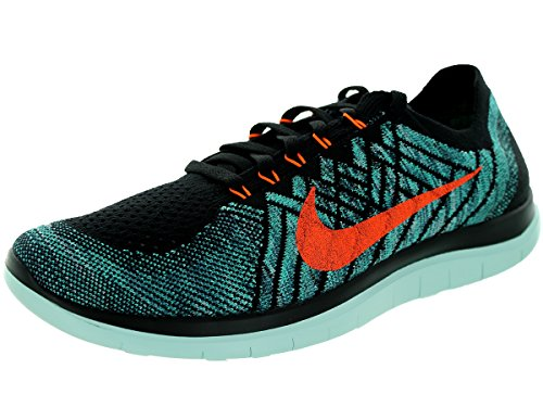 Nike Mens Gratis 4.0 Flyknit Loopschoen Zwart / Ttl Ornage-night Fctr-hyper Jd