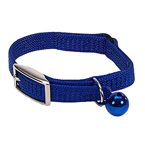 (Coastal Pet Sassy Snag-Proof Nylon Cat Safety Collar (Blue, 8