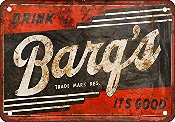 Barq's Root Beer Vintage Look Reproduction Metal Tin Sign 12X18 Inches ()
