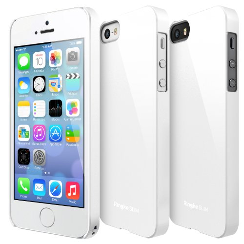 Ringke SLIM Series Slender Steadfast Bolstered Polycarbonate Hard Case for Apple iPhone SE / 5S / 5 - WHITE