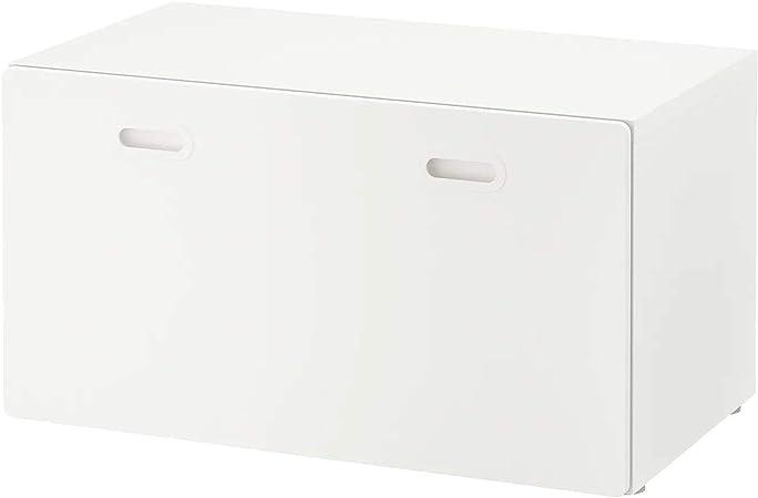 Ikea Stuva Fritids Banc Avec Coffre A Jouets Avec Roulettes Blanches 90 X 50 X 50 Cm Amazon Fr Cuisine Maison