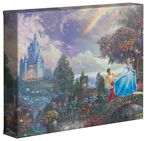Cinderella Wishes Upon a Dream - Thomas Kinkade Disney Gallery Wrapped Canvas