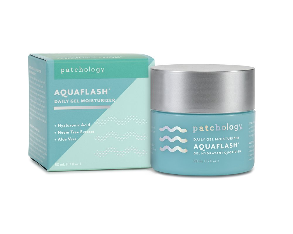 Patchology AquaFlash Daily Gel Moisturizer to Deeply Hydrate and Refresh Skin w Hyaluronic Acid, Vitamin B5, Aloe Extract