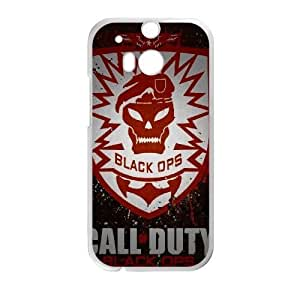 Back Skin Case Shell HTC One M8 Cell Phone Case White call of duty cod fon igry logotipy Mimcp Pattern Hard Case Cover
