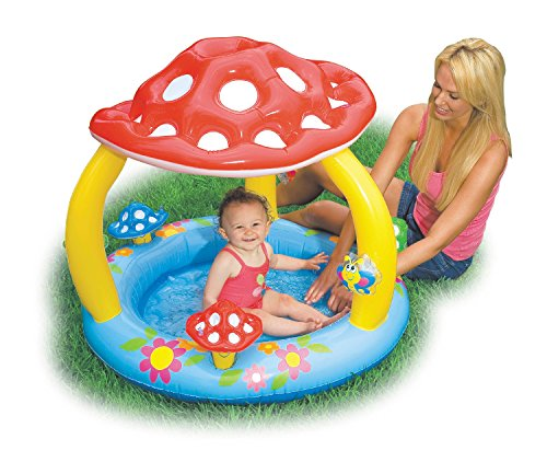 "Image of Intex Mushroom Inflatable Baby Pool, 40"" X 35"", for Ages 1-3"