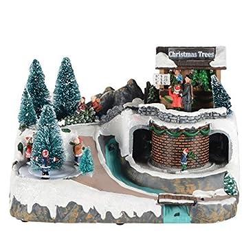 Weihnachtsdeko Aquarium.Druline Weihnachtsdorf Mit Licht Und Musik Weihnachtsdeko