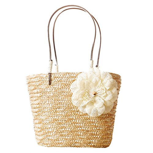 Tote LA Beach Bags Handbags Bags Casual HAUTE Shopping Shoulder Beige Holiday Bags Reuseable Women Straw Summer gqavrpg