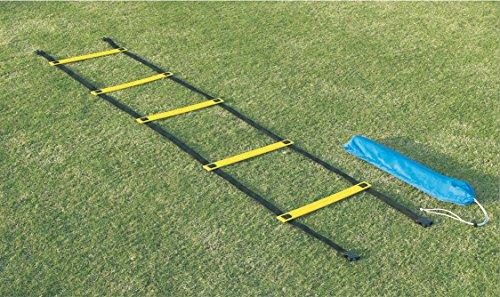 Sportime 1478707 Single Wide Agility Ladder, 29-1/2' x 16-1/2