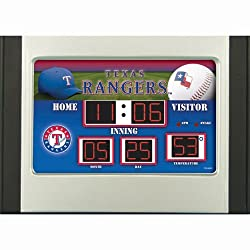 Texas Rangers Scoreboard Desk & Alarm Clock