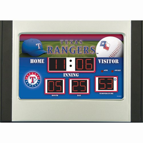 Mlb Texas Rangers Table (Texas Rangers Scoreboard Desk Clock)