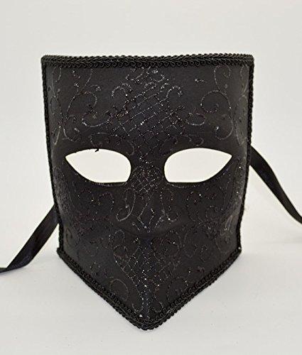 Men's Black Bauta Mask Roman Greek Venetian Spartan Masquerade Mask Cos Play Mask]()