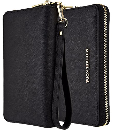 9376f7431f08 Amazon.com  Michael Kors Saffiano Leather Large Zipper Multifunction ...