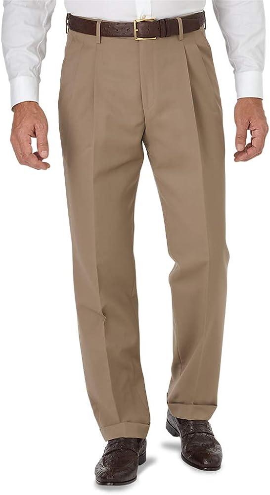 Paul Fredrick Mens Slim Fit Wool Gabardine Pant