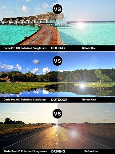 soleil femme PRO vacances UV nbsp; pour CatEye conduite polarisées de de 400 DADA 100 Lunettes protection Doré pour voyages 0HqnCqIw