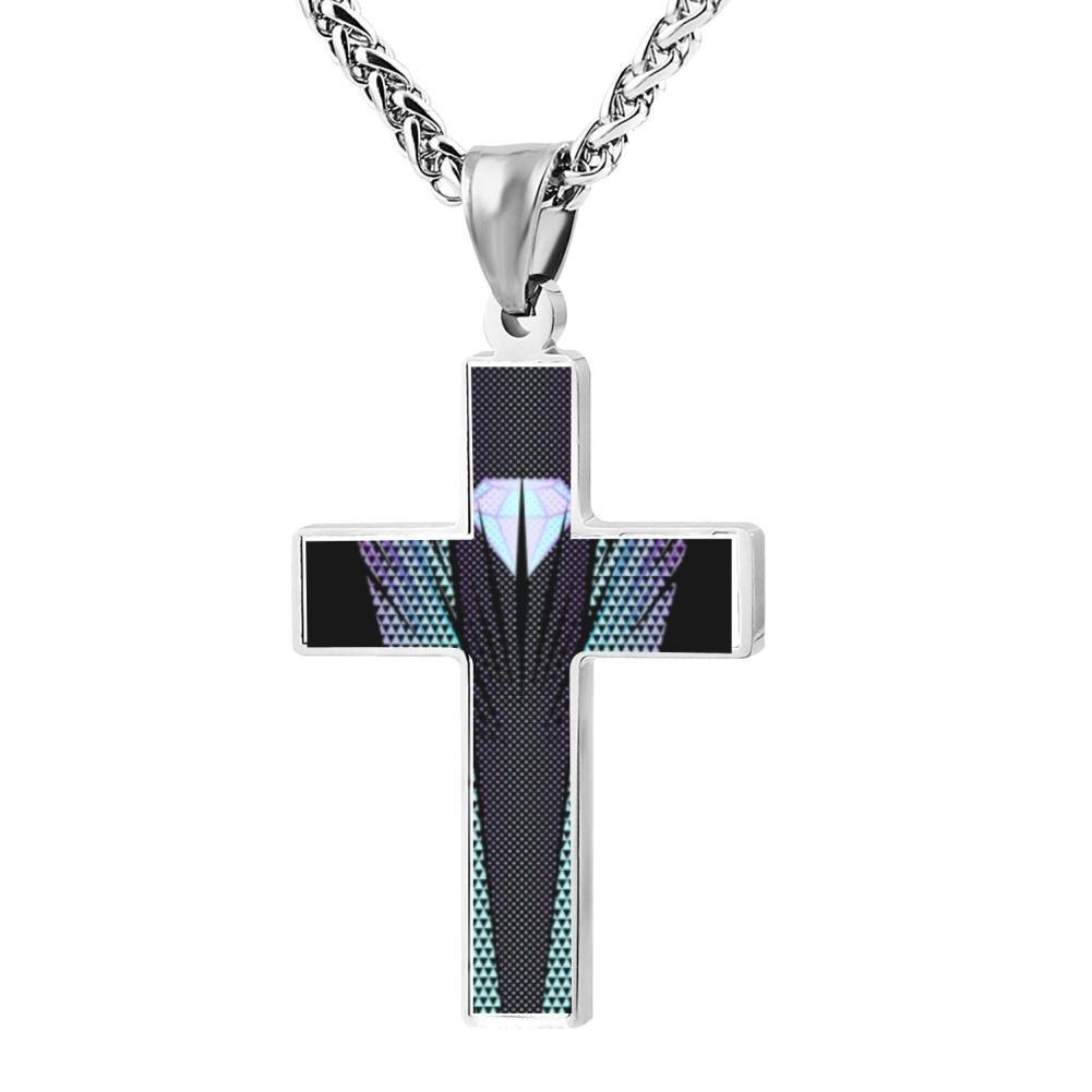 Cool Diamond Burst Christian Cross Necklace Religious Jewelry Pendant