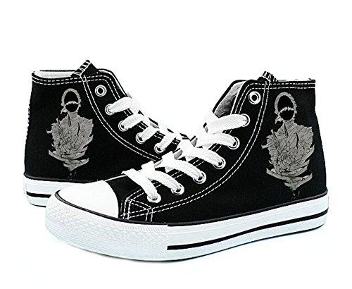 Ajin Manga Cosplay Shoes Canvas Shoes Sneakers Black/White Black 4 hUYUWdqS5E