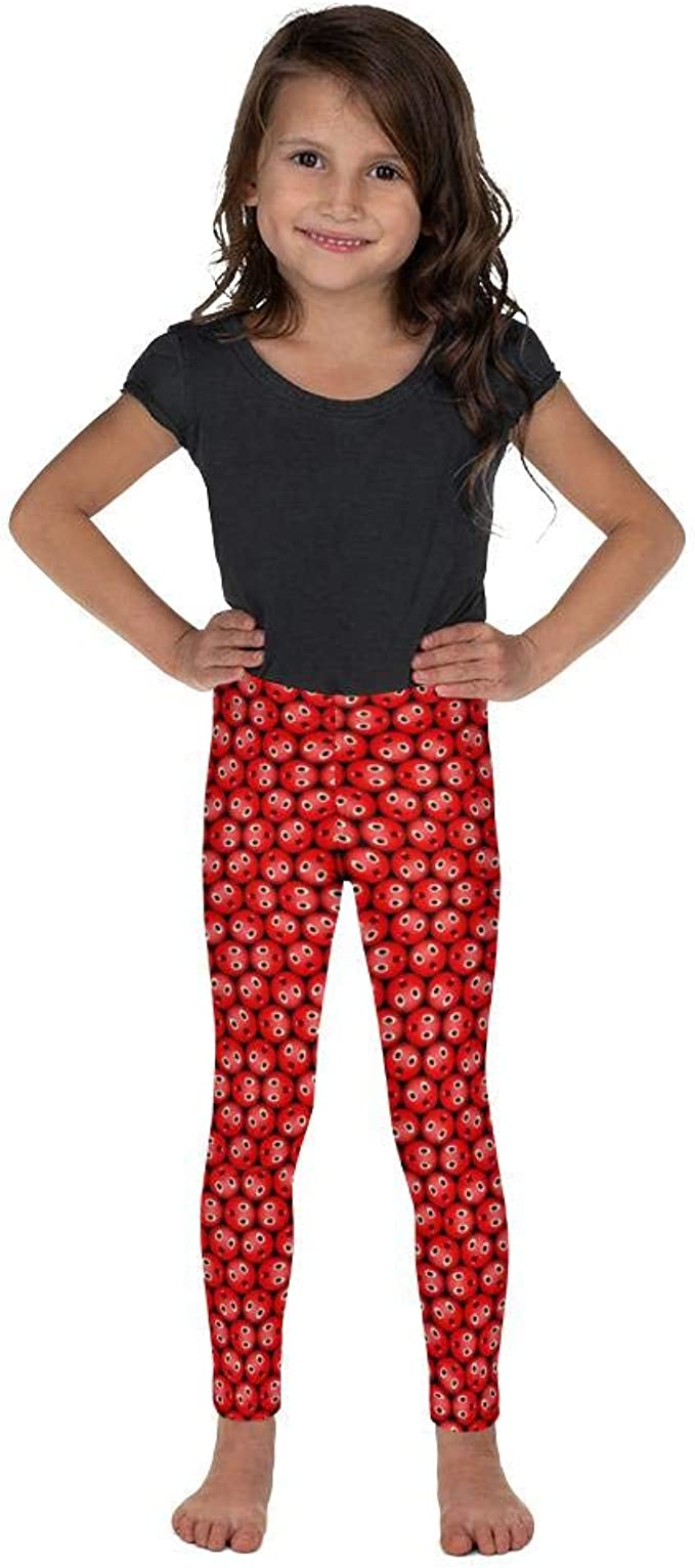 Bubblelingo Shocky Red Girls Leggings