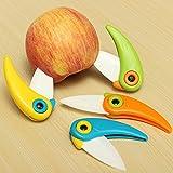 4 Pcs 4-color Bird Folding Mini Ceramic Knife Vegetable Fruit Paring Knives