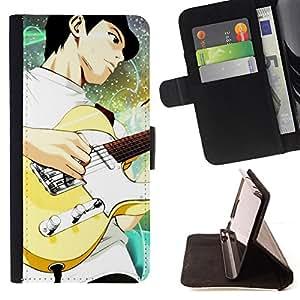 For Sony Xperia Z3 D6603,S-type Guitarra- Dibujo PU billetera de cuero Funda Case Caso de la piel de la bolsa protectora