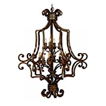 Jeremiah 8133AG12 Riata 12 Light Foyer Chandelier with Antique Scavo Glass, Aged Bronze Textured