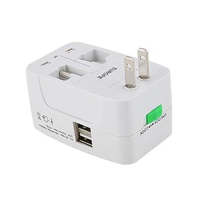 YUN MY GIRL Adaptador de Enchufe Universal USB Multi-Función de Conversión Universal del Viaje del Mundo para la Versión Europea/Inglés/EE. UU. (Tamaño : 2 USB Ports)