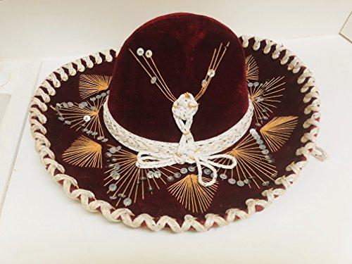 Rare Vintage Hat - Mariachi Pigalle Sombrero Charro Hat Mexico Fiesta Party Vintage Rare Red Velvet