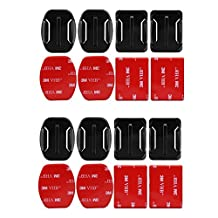 4pcs Flat and Curved Base Mount 3M VHB Stickers For GoPro Hero 5 3 4 Session Xiaomi Yi 4K Kit SJ4000 Mount Gopro Accessories Set