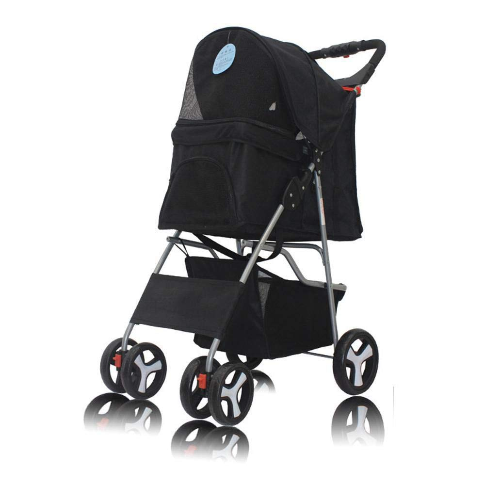 B Dixinla Pet Stroller Cat Portable folding Trolley Four-wheeled dog cart pet car