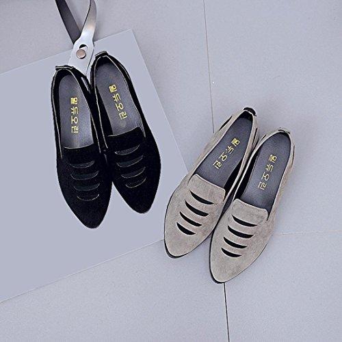 Sandales De Plage Digood Pour Les Femmes, Les Filles De Ladolescence Des Femmes Creusent Des Pantoufles Bout Pointu Chaussures Plates Gris