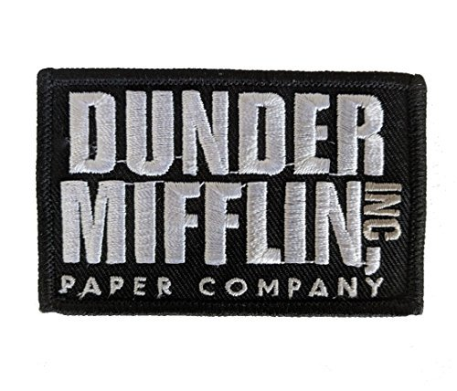 - Dunder Mifflin Inc - The Office Embroidered Iron-on Patch 2x3 morale