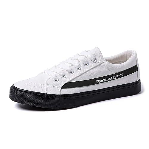 Otoño/Verano 2018 Zapatos Deportivos Planos para Hombres Mocasines Casuales Zapatos con Cordones Suela Antideslizante con Suela Superior Zapatillas con ...