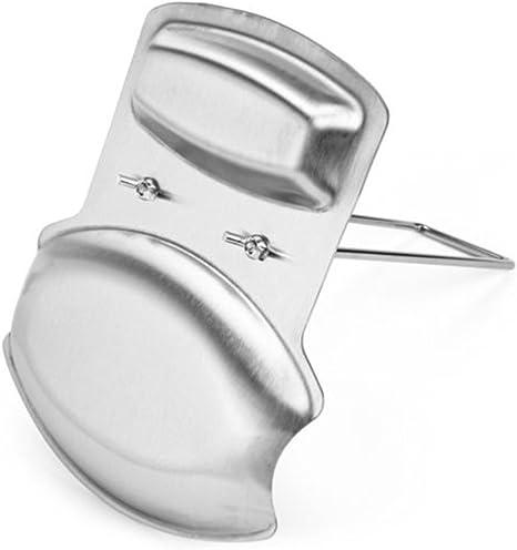 Ounona coperchio cucchiaio Titolare utensile da cucina in acciaio INOX argento