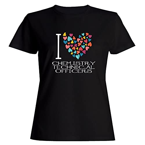 Idakoos love Chemistry Technical Officers colorful hearts Maglietta donna