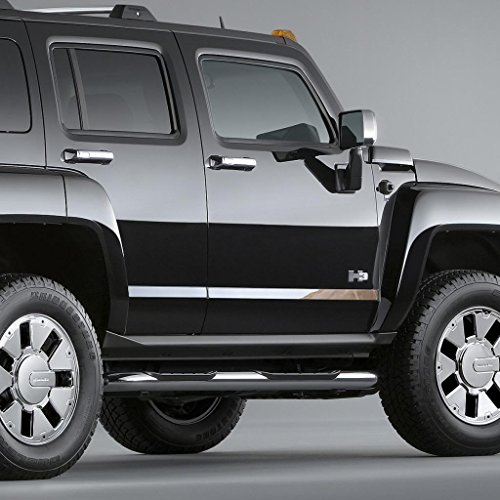 Ferreus Industries Polished Stainless (Chrome Style) Door Indent Panel Trim fits: 2005-2010 Hummer H3 OTH-101-04-FER2017 ()
