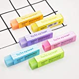 24 pcs/Lot Cute star My heart color Eraser 2B pencil erasers Stationery Office supplies borradores de goma kawaii