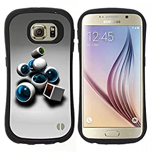 """Hypernova Slim Fit Dual Barniz Protector Caso Case Funda Para Samsung Galaxy S6 [abstracto""""]"""
