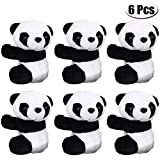 Vanproo 6Pcs Finger Panda, Cute Panda Plush Toy Panda Clip Relaxation Toys Finger Toy Kids Toy Home Decoration