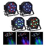 CO-Z DMX Controlled LED Par Light 18x3W RGB DJ PAR 64 Stage Lighting Party ...