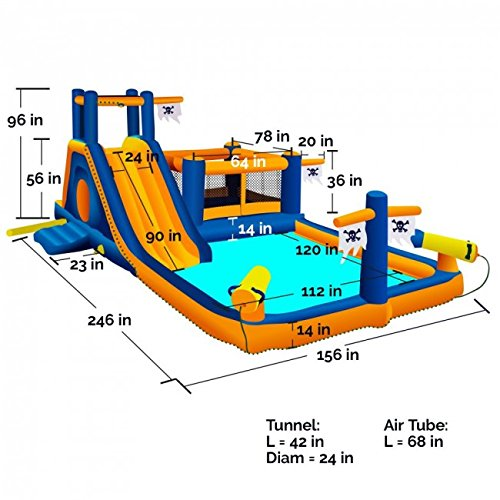 Blast Zone Pirate Bay Inflatable Combo Water Park and Bounce by Blast Zone by Blast Zone (Image #6)