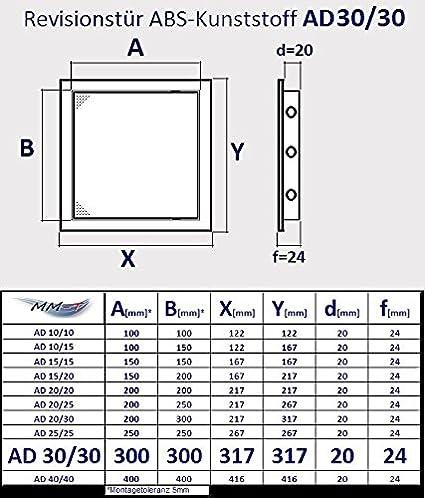 pl/ástico ABS de alta calidad en color blanco compuerta de revisi/ón Puerta de inspecci/ón