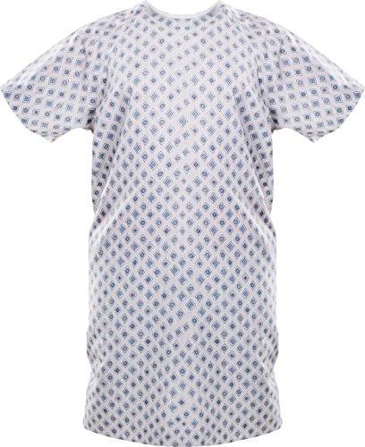 Patient Gown (1-PACK) - Blue Diamond - Fits A...