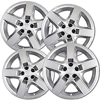 17 inch Hubcaps Best for 2008-2011 Chevrolet Malibu - (Set of 4) Wheel Covers 17in Hub Caps Silver Rim Cover - Car Accessories for 17 inch Wheels - Snap On ...