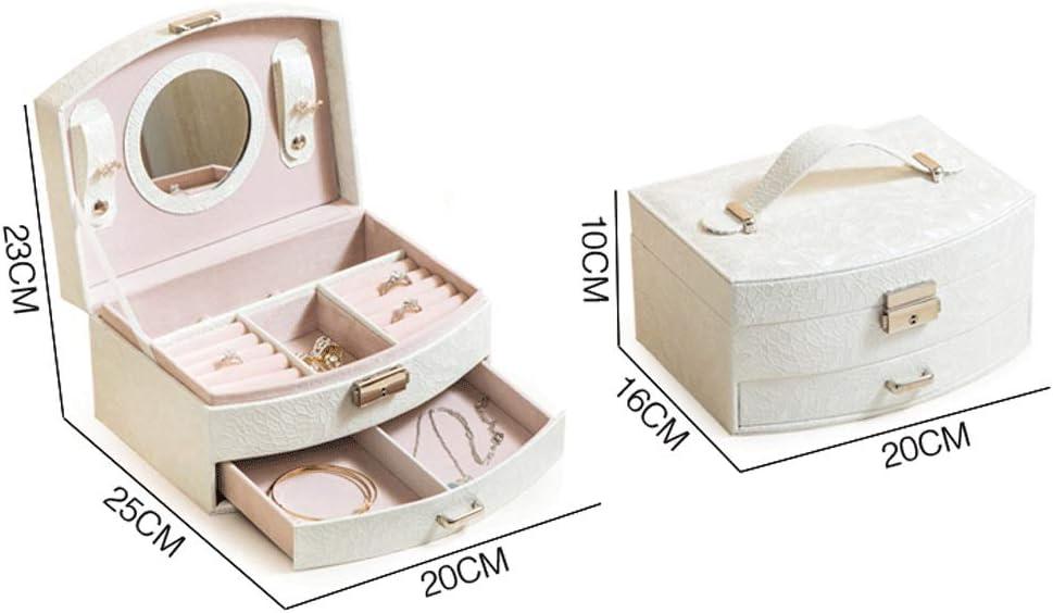 Doppel Schmuck Aufbewahrungsbox Ohrstecker Armband Ring Schmuckschatulle