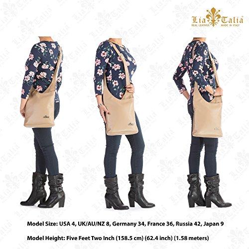Strap Soft Hobo Cross KALEY LIATALIA Bag Genuine Turquoise Womens Leather Italian Shoulder Long Body wxvq401E