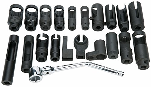 8MILELAKE 21pcs Oxygen Sensor Socket Set Sensor Oil Pressure Sending Unit Socket Set by 8MILELAKE (Image #1)