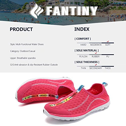 Cior Fantiny Mujeres Secado Rápido Aqua Water Zapatos Malla Slip-on Athletic Sport Casual Sneakers Para Hombres Y.rose