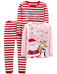 Baby, Little Kid, and Toddler Girls' 3-Piece Snug-Fit...