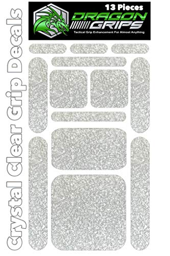 Dragon Grips 13pc Clear Grip Tape Decal Stickers for iPhone Tablet Mouse Computer Textured Silicone Rubber Traction Grip Adhesive Great for Gaming Mouse Controllers and RC Vehicle Controls (Clear) (Grip Tape For Iphone)