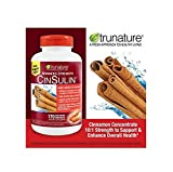 Trunature Advanced Strength Cinsulin pos3re 4Pack (170 Capsules Each )