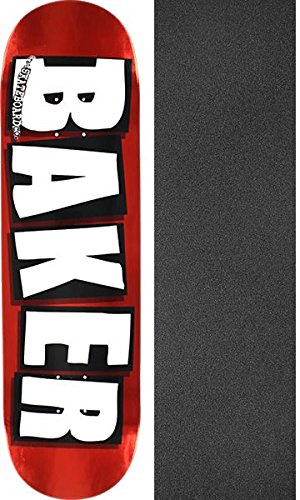 Baker Skateboards Brand Logo Foil Red Skateboard Deck - 8.25